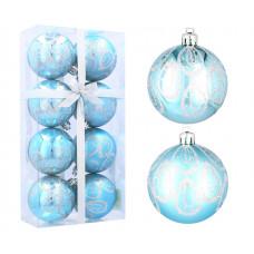 Inlea4Fun Karácsonyfa dísz szett 8 darab gömb 6 cm - Kék/vízcsepp Előnézet