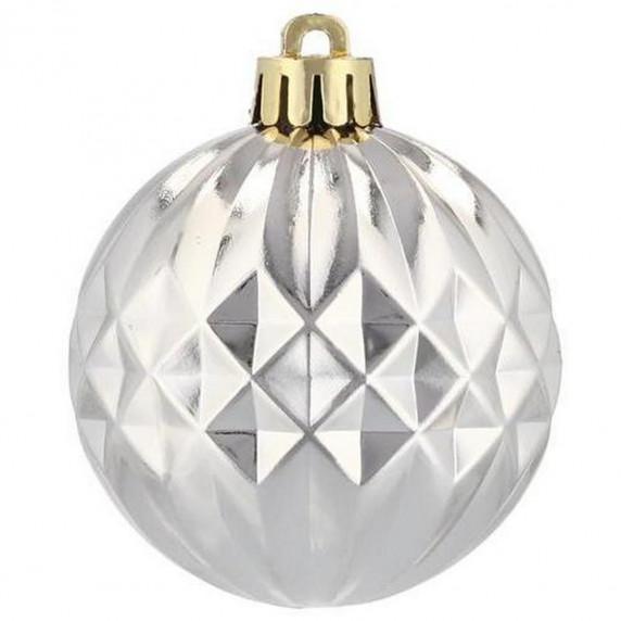 Inlea4Fun Karácsonyfa dísz szett 80 darab gömb 6 cm - Arany/ezüst