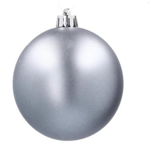 Inlea4Fun Karácsonyfa dísz szett 8 darab gömb 6 cm - ezüst