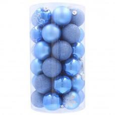 Inlea4Fun Karácsonyfa dísz szett 41 darab gömb 6 cm - Kék Előnézet