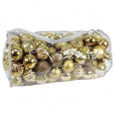 Inlea4Fun Karácsonyi gömbök 100 db 6 cm - Arany Előnézet