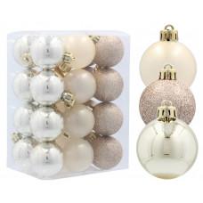 Inlea4Fun Karácsonyfa dísz szett 24 darab gömb 4 cm - Arany Előnézet