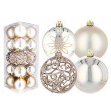 Inlea4Fun Karácsonyfa dísz szett 20 darab gömb 8 cm - Arany Előnézet