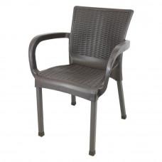 Rattan kerti szék InGarden 60 x 60 x 82 cm - Barna Előnézet