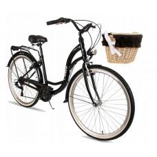 """Női kerékpár ALICE  28"""" - fekete Előnézet"""
