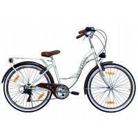 """Hellobikes VENETIAN 6 Speed női kerékpár 26"""" - Krém"""