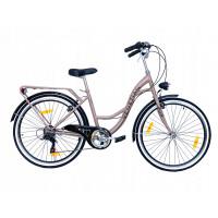 """Hellobikes VENETIAN 6 Speed női kerékpár 26"""" - Bézs"""