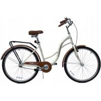 """Hellobikes VENETIAN 1 Speed női kerékpár 26"""" - Krém"""