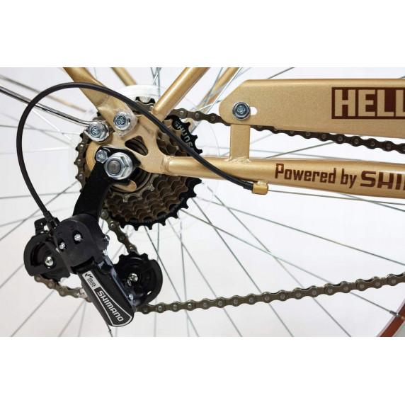 """Hellobikes RETRO 7 Speed női kerékpár 26"""" - Arany"""