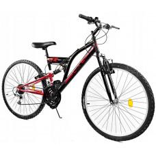 """GOETZE CORE férfi kerékpár 24"""" - fekete/piros Előnézet"""