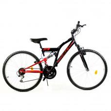 """GOETZE CORE férfi kerékpár 26"""" - fekete/piros Előnézet"""