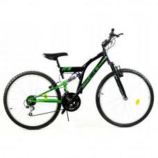 """GOETZE CORE férfi kerékpár 26"""" - fekete/zöld Előnézet"""