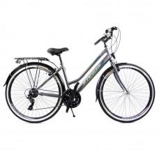 "KANDS Galileo Lady női kerékpár 28"" - szürke/zöld Előnézet"