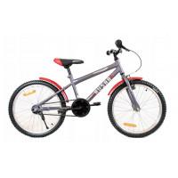 """HUSAR Gyerek bicikli 20"""" - szürke/piros"""