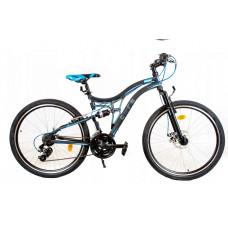 """Gyerek kerékpár Tought Core """"24"""" - fekete/kék Előnézet"""