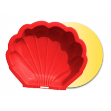 Nagy Kagyló homokozó - piros