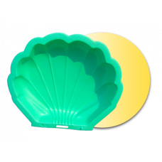 Inlea4Fun Nagy Kagyló homokozó - zöld Előnézet