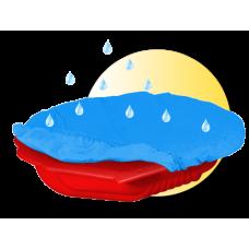 Inlea4Fun Nagy Kagyló homokozó takaróval - piros Előnézet