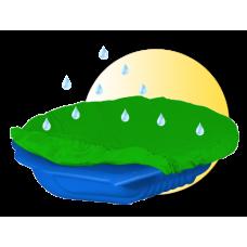 Inlea4Fun Nagy Kagyló homokozó takaróval - kék Előnézet