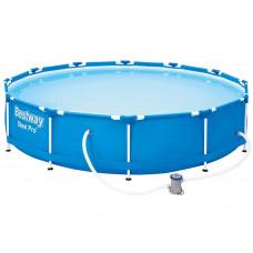 Fémvázas medence BESTWAY 56681 Steel Pro 366x76cm papírszűrős vízforgatóval Előnézet