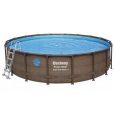 BESTWAY Rattan fémvázas medence szett 5,49 m x 1,22 m Előnézet