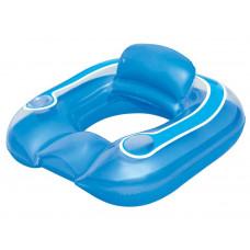 BESTWAY 43097 Italtartós felfújható úszófotel 102x94 cm - Kék Előnézet