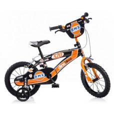 """DINO BMX 14"""" gyerek bicikli - fekete/narancssárga Előnézet"""