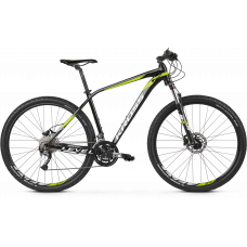 """KROSS MTB XC Hegyi kerékpár LEVEL 3.0 17"""" S 2020 - fényes fekete / lime / fehér"""