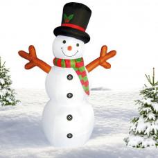 Inlea4Fun felfújható hóember 180 cm - piros Előnézet