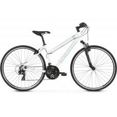 """KROSS Kerékpár EVADO 1.0 17"""" DM 2021 - fényes fehér / türkiz Előnézet"""