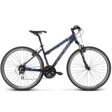 """KROSS Cross Kerékpár Evado 3.0 19"""" DL 2019 - fényes sötétkék / zöld"""