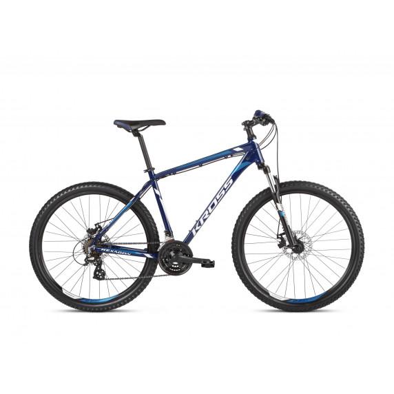 """KROSS MTB Hegyi kerékpár HEXAGON 3.0 17"""" S 2021 - fényes kék / fehér"""