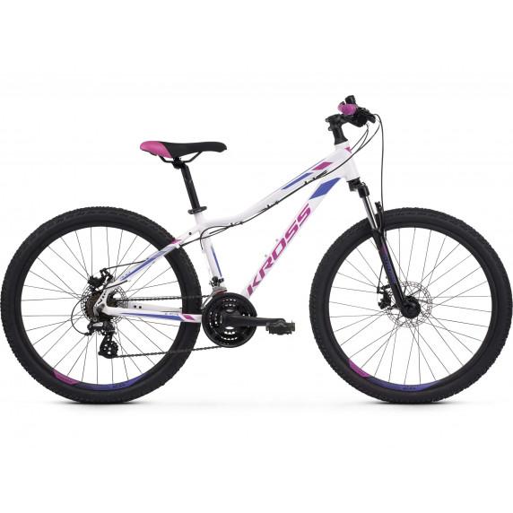 """KROSS MTB WOMAN Női hegyi kerékpár LEA 3.0 19"""" M 2021 - fényes fehér / lila"""
