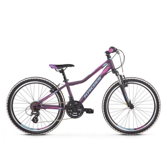 """KROSS JUNIOR Gyerek kerékpár Lea Jr 2.0 12"""" 2019 - matt lila / kék / rózsaszín"""