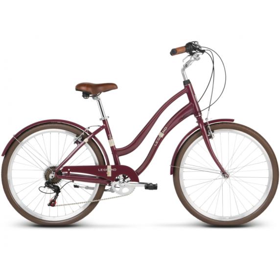 """LE GRAND Comfort Női városi kerékpár Pave 1 16"""" M 2019 - fényes cseresznye"""