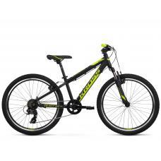 """KROSS JUNIOR Gyerek kerékpár Dust Jr 1.0 12"""" 2020 - matt fekete / lime Előnézet"""