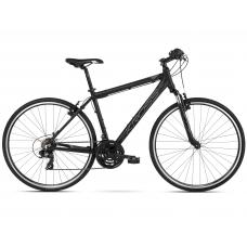 """KROSS Cross Kerékpár Evado 1.0 21"""" L 2021 - matt fekete / grafit szürke Előnézet"""