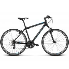 """KROSS Cross Férfi kerékpár Evado 2.0 21"""" L 2021 - fényes fekete / kék Előnézet"""