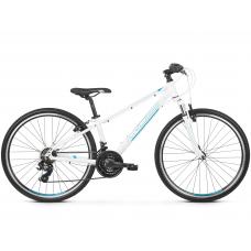 """KROSS JUNIOR Gyerek kerékpár Evado Jr 1.0 13"""" 2020 - fényes fehér / türkiz / kék Előnézet"""