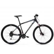 """KROSS MTB Hegyi kerékpár HEXAGON 8.0 15"""" XS - matt fekete / grafit szürke / acélkék Előnézet"""