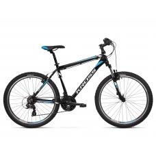 """KROSS MTB Hegyi kerékpár HEXAGON 1.0 14"""" XS 2020 - fényes fekete / fehér / kék Előnézet"""