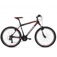 """KROSS MTB Hegyi kerékpár HEXAGON 1.0 14"""" XS 2020 - matt fekete / fehér / piros Előnézet"""