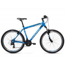 """KROSS MTB Hegyi kerékpár HEXAGON 1.0 14"""" XS 2020 - matt kék / ezüst / fekete Előnézet"""