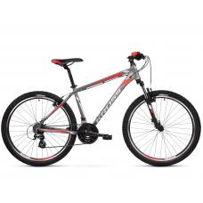 """KROSS MTB Hegyi kerékpár HEXAGON 2.0 17"""" S 2020 - matt grafit szürke / ezüst / piros Előnézet"""