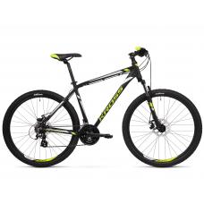 """KROSS MTB Hegyi kerékpár HEXAGON 3.0 14"""" XS 2019 - matt fekete / lime / ezüst"""
