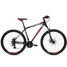 """KROSS MTB Hegyi kerékpár HEXAGON 3.0 14"""" XS 2020 - matt fekete / piros / ezüst Előnézet"""