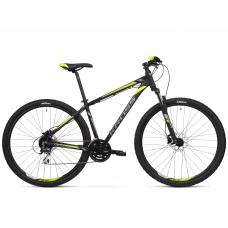 """KROSS MTB Hegyi kerékpár HEXAGON 5.0 17"""" S 2020 - matt fekete / grafit szürke / lime Előnézet"""