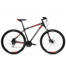 """KROSS MTB Hegyi kerékpár HEXAGON 6.0 15"""" XS 2020 - matt fekete / grafit szürke / piros Előnézet"""
