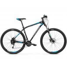 """KROSS MTB Hegyi kerékpár HEXAGON 7.0 15"""" XS 2020 - fényes fekete / grafit szürke / kék Előnézet"""