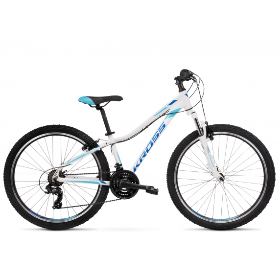 """KROSS MTB WOMAN Női hegyi kerékpár LEA 1.0 13"""" XXS - fényes fehér / kék"""